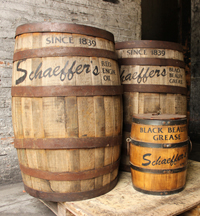 Schaeffer's Grease and Oil Barrel
